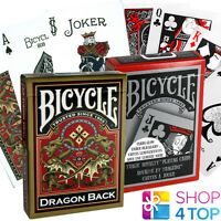 2 DECKS BICYCLE 1 TRAGIC ROYALTY AND 1 GOLD DRAGON PLAYING CARDS USPCC NEW