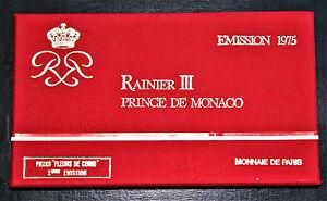 Monaco 7 Coins 1975 Rainier III Mint Set