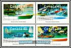CANADA 1991 CANADIAN SMALL CRAFT BOAT ROWBOAT MINT FV FACE $1.60 MNH STAMP BLOCK