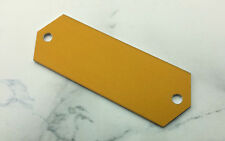 kleines TÜRSCHILD aus Aluminium - gold 58x20mm - inkl Ihrer WUNSCHGRAVUR