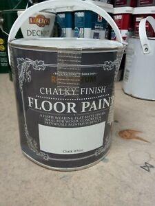 Rust Oleum Chalky Finish Floor Paint -chalk White 2.5L
