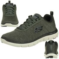 Details zu Skechers Herren Skech Flex 3.0 Whiteshore Sneaker low Halbschuhe Schuhe schwarz