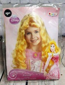 Disney Princess Girls Yellow Long Blonde Aurora Sleeping Beauty Halloween Wig