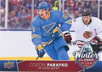17/18 UPPER DECK 2017 WINTER CLASSIC JUMBO #WC-13 COLTON PARAYKO BLUES