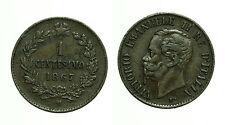 pcc1177_6) Regno d Italia Vittorio Emanuele II  Centesimi 1 Valore 1867