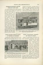 1918 Magazine Article Halifax England Kitchen in Tram Trolley Served Food RR