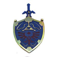 Legend of ZELDA Hylian Shield Links Master Sword Blue Nacklace