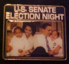 BARACK OBAMA US SENATE ELECTION NIGHT WILLABEE & WARD COMMEMORATIVE SERIES PIN