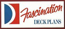 ms FASCINATION...cruise ship....CCL ..Vintage Deck Plans ..1994
