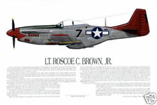 "Ernie Boyette Print ""P-51 Tuskegee Airman Roscoe Brown"""