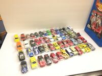 VINTAGE Matchbox 48 Car Case Full Of 80's 90's Modern Castings Moving Parts