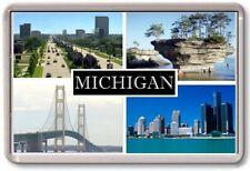 FRIDGE MAGNET - MICHIGAN  - Large - USA America TOURIST