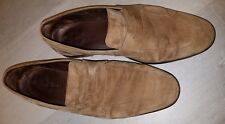 Cole Haan Mens 10 M soft suede camel Loafer Shoes Made in India