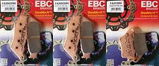 Full Set EBC Sintered Brake Pads - BMW F700/800GS (2 x FA209/2HH + 1 x FA213HH)