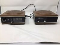 RARE VINTAGE WYNFORD HALL AM/FM FLIP CLOCK RADIO W/ STEREO ADAPTER WORKS GREAT!