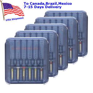 5 Pack Dental NiTi Endodontic Files 25mm Memory Endo Rotary Files 25mm