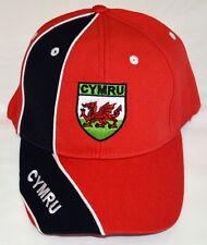 WALES streaked design Red  GOLF / BASEBALL CAP,  Welsh, Cymru