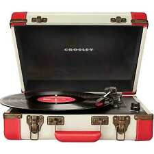 Crosley Executive Portable USB Turntable with Editing Software CR6019A-RE (Red)