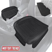Motor Trend Car Seat Cushions, Front and Back Set -  Black Faux Leather Covers