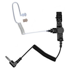 "Listen Receive Only 3.5mm Earpiece 6"" Cable for 2-Way Radio Speaker Microphone"