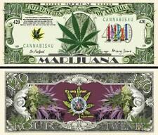 OUR MEDICAL MARIJUANA 420 CANNABIS DOLLAR BILL (2 Bills)