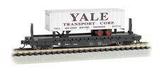 Bachmann 16755 N SCALE Atlantic Coast Line 52'6 Flatcar w/Yale Piggyback Trlr