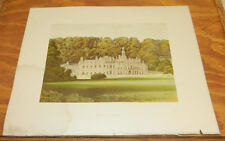 1866 Antique COLOR Print/SHELTON ABBEY, COUNTY WICKLOW, HOME OF EARL OF WICKLOW