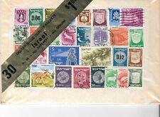 Vintage Golden Value Packet (Minkus)  30 different Israel  Stamps