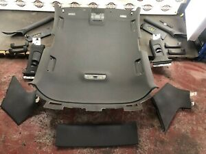 2012 AUDI A3 8P S-LINE 3 DOOR INTERIOR ROOF HEAD LINER IN BLACK WITH ALL TRIMS