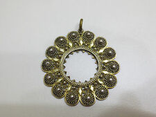 Antique SILVER FILIGREE Mercury Gilded Gold-plated Coin Holder for NECKLACE