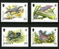 JERSEY 2004 RARE FAUNA 2nd ISSUE SET OF ALL 4 COMMEMORATIVE STAMPS MNH