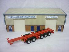 Oxford Diecast/Modern 1:76th Truck/Roadscene Plain Red Tex-combi Trailer