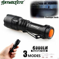 6000LM  Q5  3Mode ZOOM LED Super Bright Flashlight MINI Police Torch AA/14500 JN