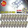 20x 1156 BA15S White Interior Light RV Camper Trailer 27 SMD LED 1141 1003 Bulbs