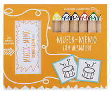 Musik Memo Spiel Ausmalen Rätsel Buntstifte Stifte TÜV DIN EN 71 Kinder malen