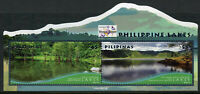 Philippines 2018 MNH Philippine Lakes Thailand OVPT 2v M/S Landscapes Stamps