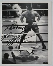 Mike Tyson Boxing Spinks 1988 Trump Plaza, Original Autograph on B&W Photograph