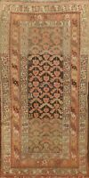 Antique Pre-1900 Traditional Area Rug Wool Hand-Knotted Vegetable Dye Carpet 3x6