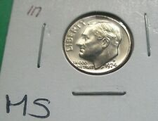 1974-D ROOSEVELT DIME, MS CONDITION FROM A MINT SET. HIGH GRADE. (117)