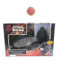 Hasbro 1999 Star Wars Episode I SITH ATTACK SPEEDER w/ DARTH MAUL Figure New