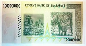 Zimbabwe Billet 1 MILLIARD de  DOLLARS 2008 Pick 83 USED CIRCULE Zimbawe