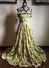 ❤️D&G❤️ RARE💗Sold Out💗 Dolce Gabbana Cotton Yellow Floral Maxi Dress Boho