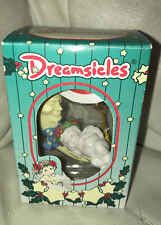 Dreamsicles Moon & Cherub Santa Hat Christmas Ornament Nib Nos 1997 Cast Art