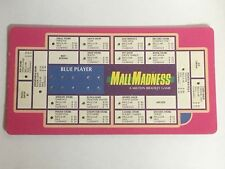 VINTAGE 1989 MALL MADNESS SHOPPING MALL BOARD GAME REPLACEMENT BLUE CARD
