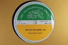 BBC 319 Transcription Disc TOP of  POPS Live Led Zeppelin Hollies Dave Edmunds