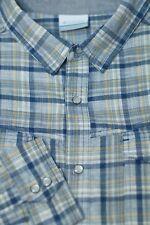 Columbia Men's Stone Lake & Sun Check Western Cotton Snap Shirt L Large