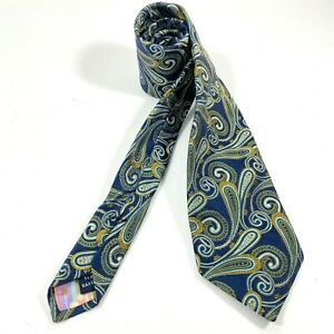 Ted Baker Tie  London Men's Blue Green Paisley Silk knitted woven  Tie MSRP $98