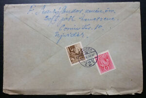 Hungary WWII Cover 1943 Sent to Sombor B1