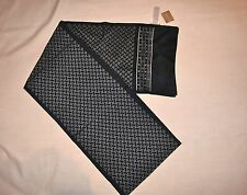 J.Crew New With Tag Printed Silk Scarf Color:Navy Blue/W White Dots Onesize