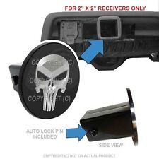"Custom Class 3 Tow Hitch Receiver 2"" Insert Plug Truck & SUV - PUNISHER SKULL S"